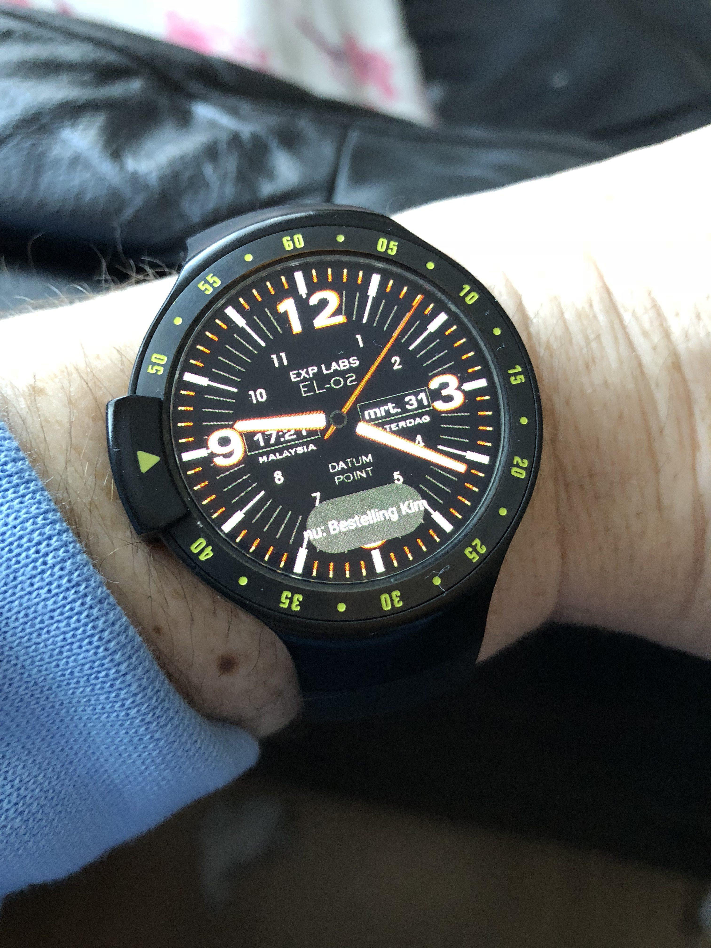 Aan de smartwatch